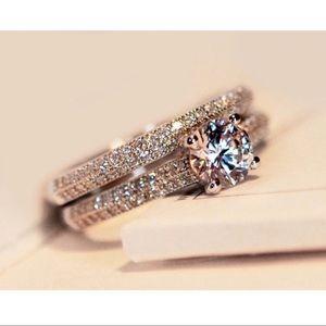 ❗️Luxury Female White Bridal Wedding Ring Set❗️